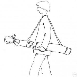 Housse de transport géante portée à l'épaule